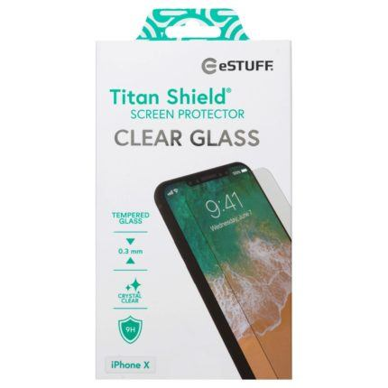 Image of eSTUFF Titan Shield 3 mm glasbeskyttelse iPhone X/Xs
